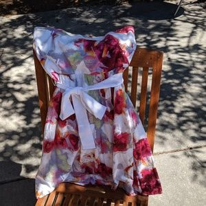 Banana Republic strapless floral dress 0P